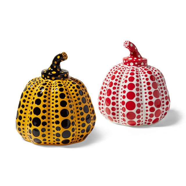 Yayoi Kusama, 'Yayoi Kusama Pumpkins Collectible Set of 2, White/Red & Yellow/Black', 2015, World of WonderMei