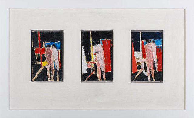 , 'Three Studies for Figures with Mirror and Easel,' 1960, Rosenberg & Co.