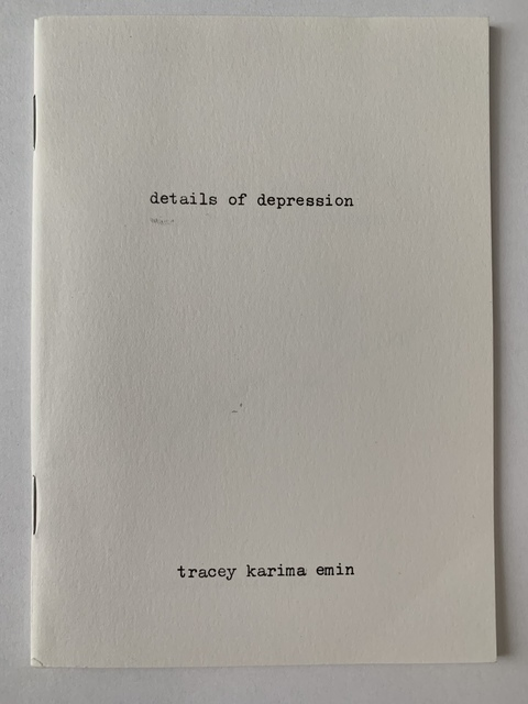 """Tracey Emin, 'TRACEY EMIN """"DETAILS OF DEPRESSION"""" NUMBERED 12', 2003, Arts Limited"""