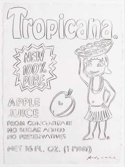 Andy Warhol, 'Tropicana Apple Juice ', 1986, Ronald Feldman Gallery