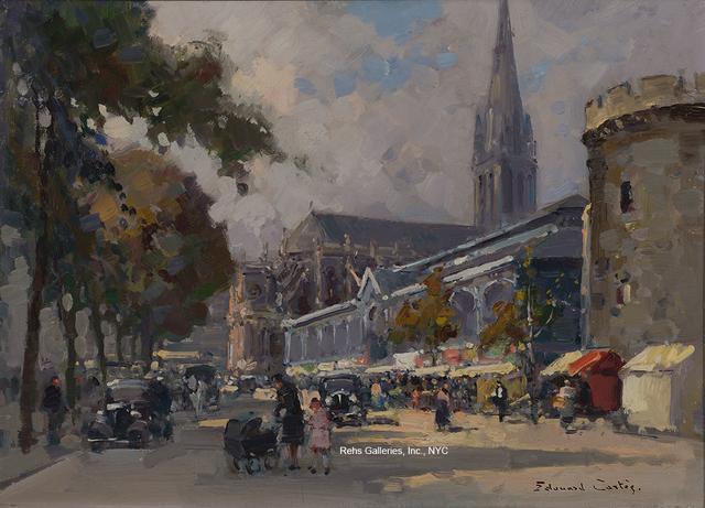 Edouard Léon Cortès, 'Les Halles et la Tour le Roy a Caen (Boulevard des Alliés, Church of Saint-Pierre)', Rehs Contemporary Galleries