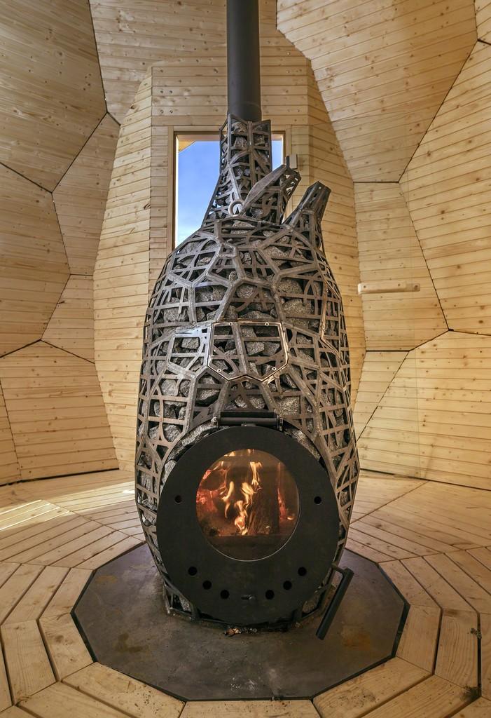 Bigert & Bergström for Riksbyggen, 'Solar Egg' (2017). Detail, Kiruna, Sweden. Photo: Jean-Baptiste Béranger.