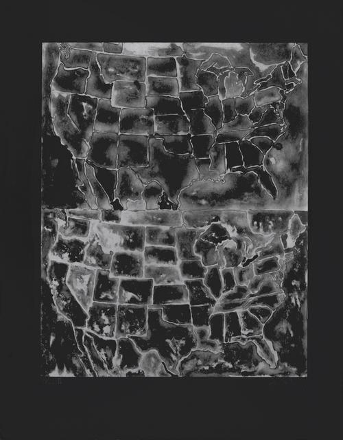 , 'Two Maps II,' 1966, Susan Sheehan Gallery