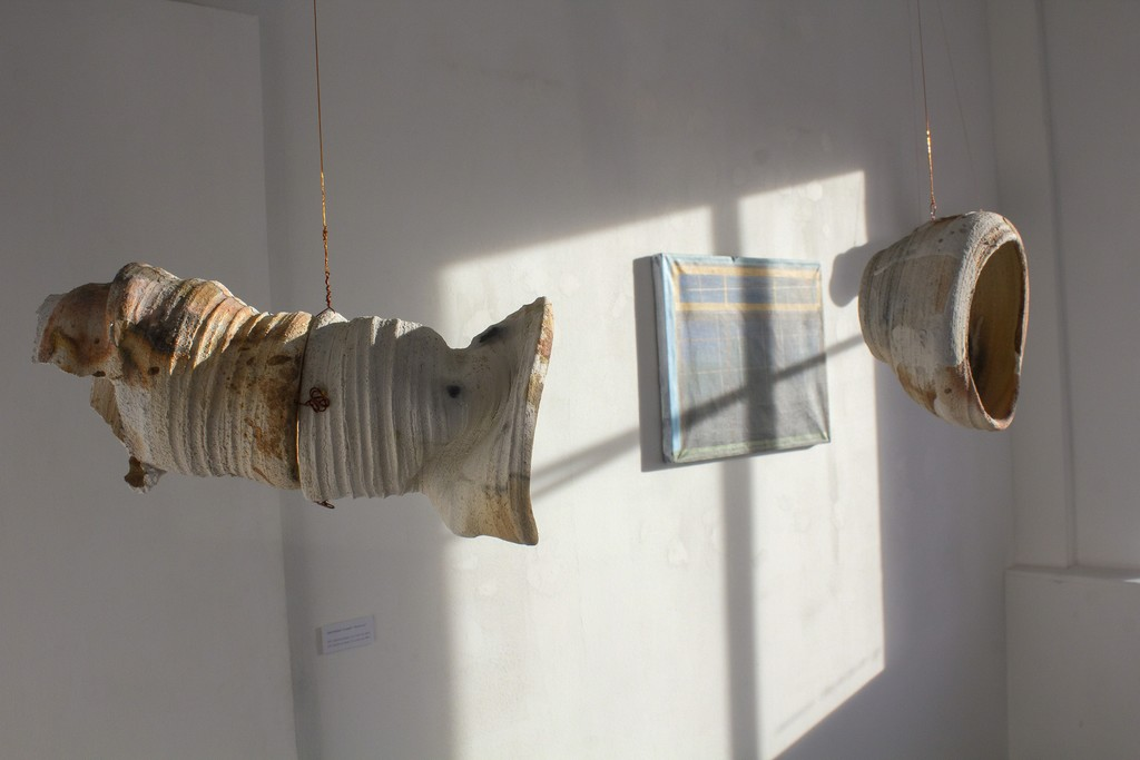 """Fragment of the exhibition """"Between"""". Photography by Airida Rekštytė."""