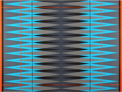 , 'INTERVENTION Teal.Grey.Orange.Black,' 2014, Klaus Steinmetz Contemporary Art