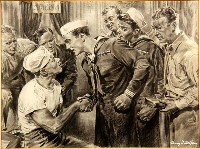 """Henry D. Helprin, '""""Anchors Aweigh"""" with Gene Kelly & Frank Sinatra', 20th Century, The Illustrated Gallery"""