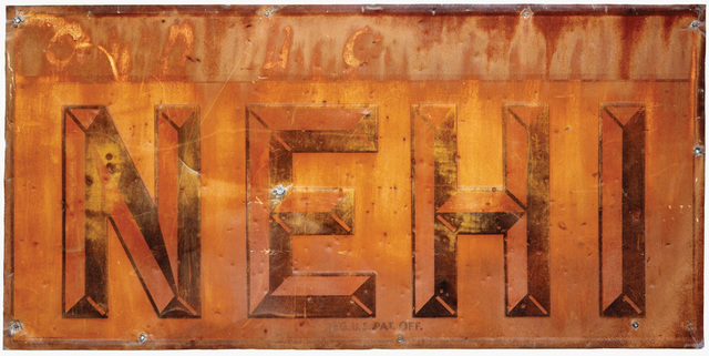 , 'NEHI, Sign from Advance,' 1971, Vancouver Art Gallery