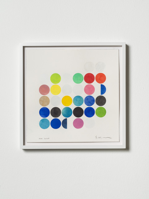 Sarah Morris, 'May 2020', 2020, Drawing, Collage or other Work on Paper, Watercolor on paper, framed, KÖNIG GALERIE