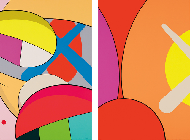 KAWS, 'Untitled; and Untitled, from No Reply', 2015, Print, Two screenprints in colors, on wove paper, the full sheets, Phillips