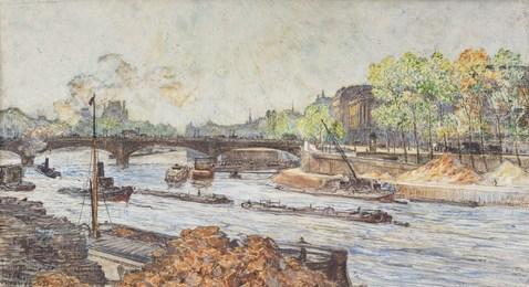 Paris, la Seine au pont de la Concorde