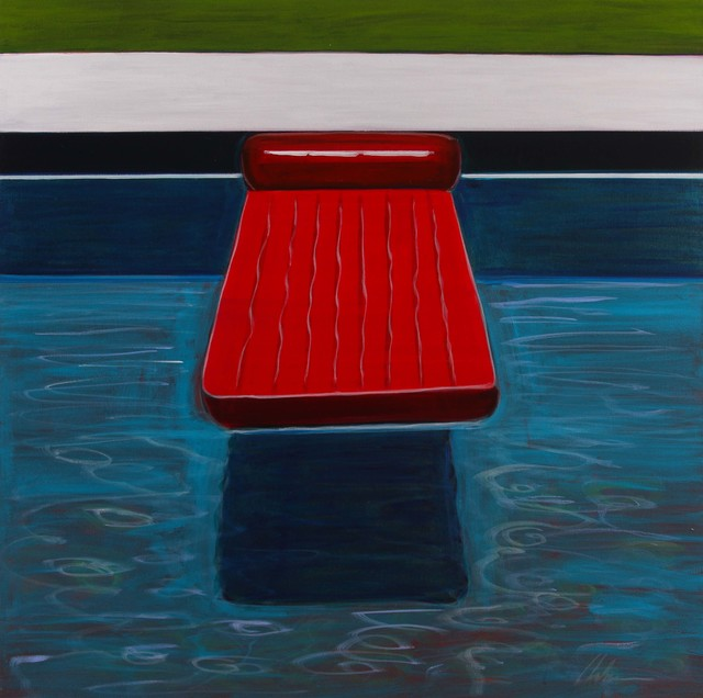 , 'Red Floating Lounge,' 2017, Caldwell Snyder Gallery