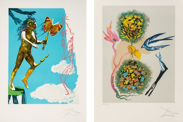 Salvador Dalí, 'Madam butterfly & the dream (two works)', 1978, Heritage Auctions