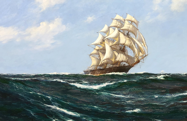 "Montague Dawson, 'The ""Red Jacket"" on Open Seas', Mark Murray Fine Paintings"