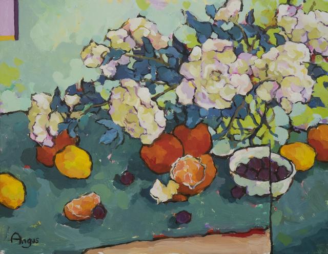 , 'Florida Peonies with Lemons,' 2018, Ventana Fine Art