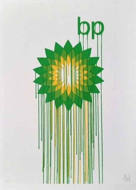 Zevs, 'Liquidated BP (from Liquidated London set)', 2012, On The Wall