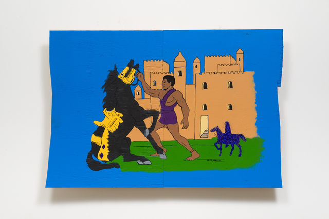 , 'THE BLACK MAN IN AFRICA MAD STRONG WARRIORS AND BEAUTIFUL CITIES,' 2017, Night Gallery