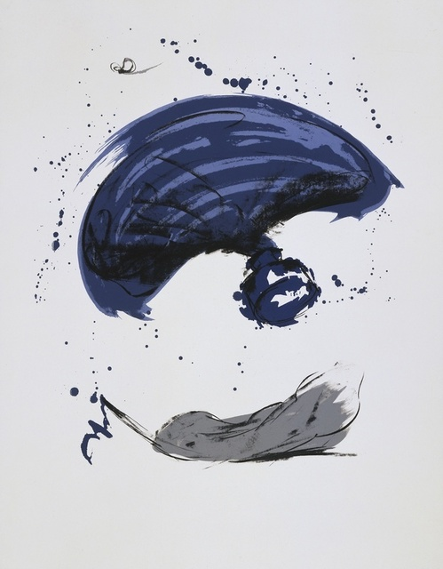Claes Oldenburg, 'Thrown Ink Bottle with Fly and Dropped Quill', 1991, Print, 6 color lithograph, Gemini G.E.L.