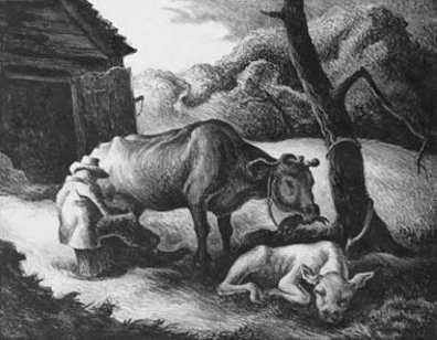 Thomas Hart Benton, 'White Calf', 1945, Kiechel Fine Art
