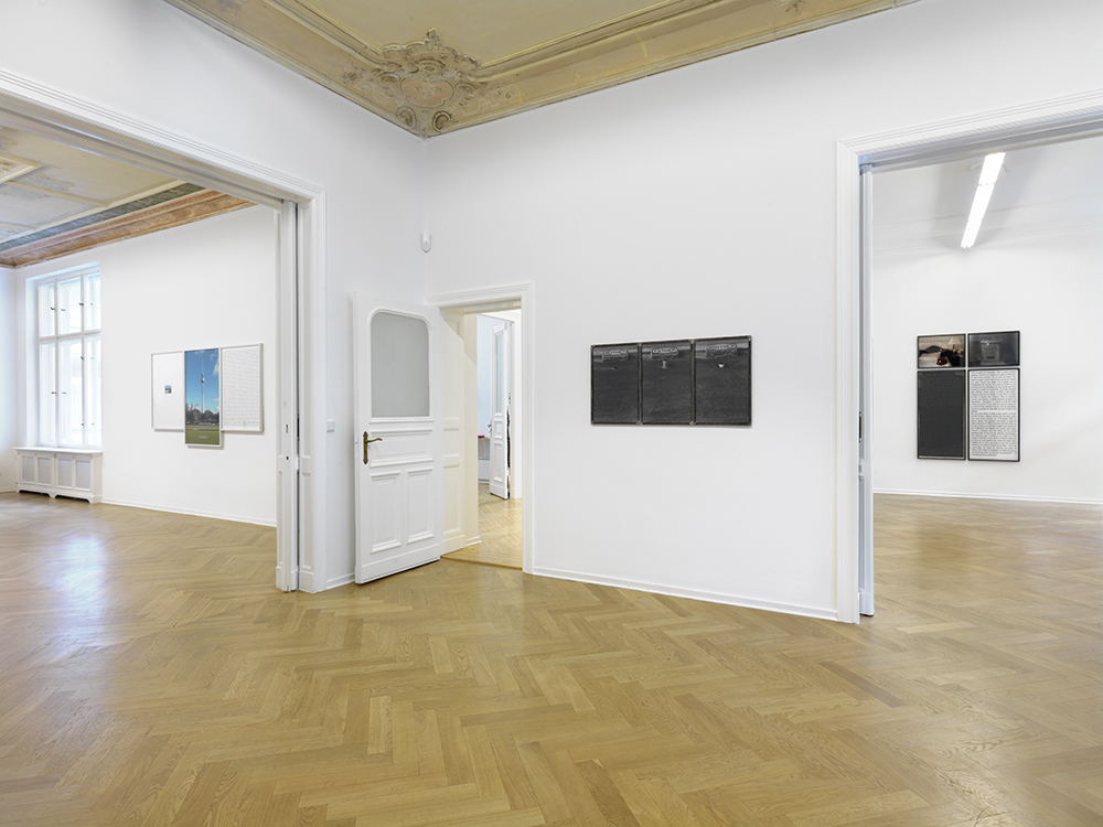"""Installation view. Sophie Calle """"VIEW OF MY LIFE"""", A3, Berlin, Germany. September 30 - November 18, 2016. Photo: Bernd Borchardt"""