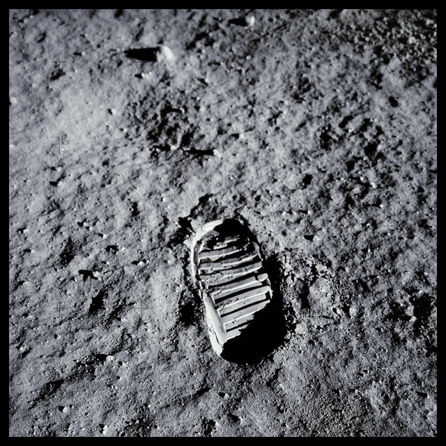 """, '048 Post-Contact Lunar Soil, Imprinted for the Next 2 Million Years; Photographed by Edwin """"Buzz"""" Aldrin, Apollo 11, July 16-24, 1969,' 1999, Danziger Gallery"""
