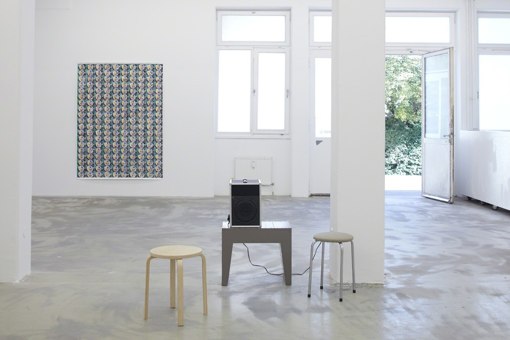 Marijn van Kreij, Nude in front of a Garden, 2016, with a contribution by Andrea Büttner, exhibition view Klemm's, Berlin