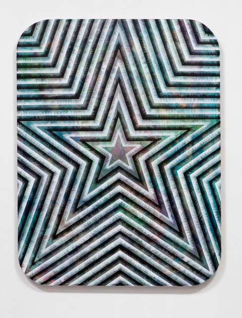 , 'SLATE: Radial Painting No. 3 (star),' 2015, Erin Cluley Gallery