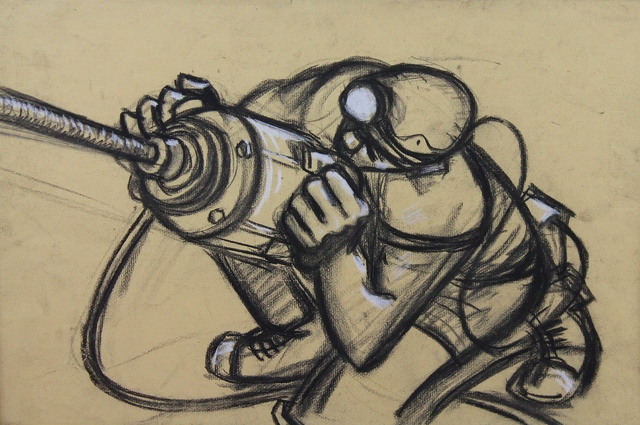 , 'Miner with drill ii,' ca. 1965, Castlegate House Gallery