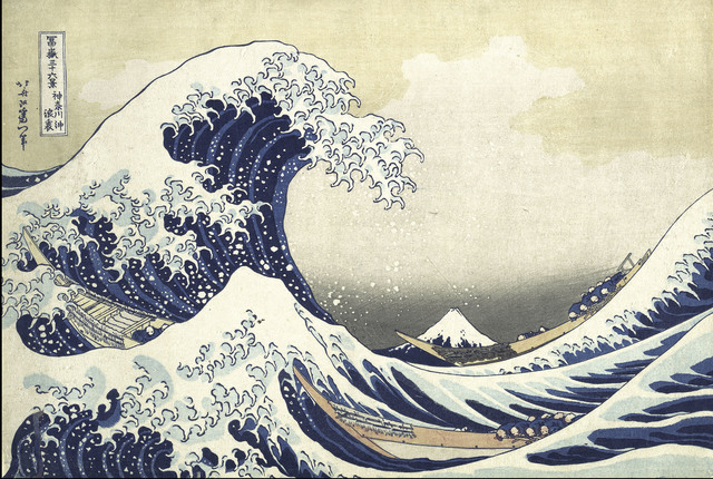 , 'Under the Wave off Kanagawa (Kanagawa oki nami ura), also known as the Great Wave, from the series Thirty-six Views of Mount Fuji (Fugaku sanjūrokkei),' ca. 1830-32, The Metropolitan Museum of Art