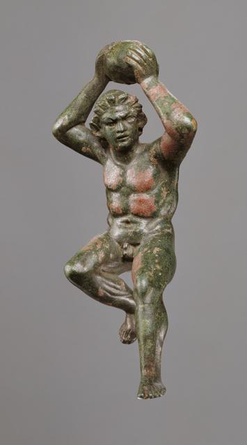 'Statuette of a Giant Hurling a Rock', 200 -175 BCE, J. Paul Getty Museum