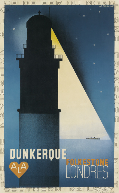 Adolphe Mouron Cassandre, 'DUNKERQUE', 1932, Swann Auction Galleries