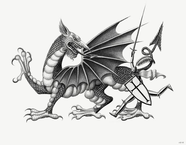 , 'St. George & The Dragon,' 2016, HARPY