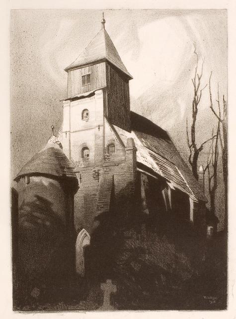 , '(Alte Dorfkirche, Middelhagen) (Old village church, Middelhagen),' 1906, Moeller Fine Art