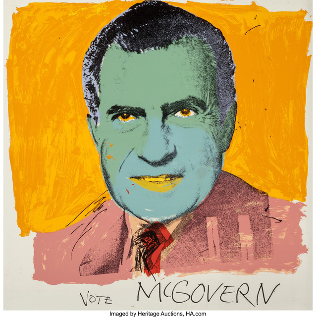 Andy Warhol, 'Vote McGovern', 1972, Heritage Auctions