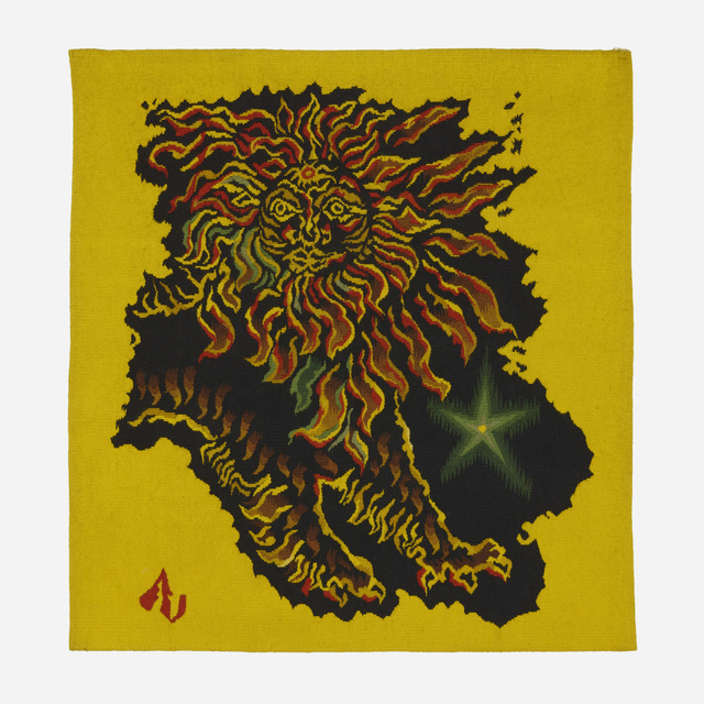 Jean Lurçat, 'Le Lion tapestry', c. 1945, Textile Arts, Hand-woven wool, Rago/Wright
