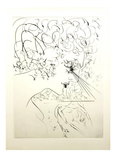 "Salvador Dalí, 'Original Etching ""Venus in Furs IV"" by Salvador Dali', 1968, Galerie Philia"