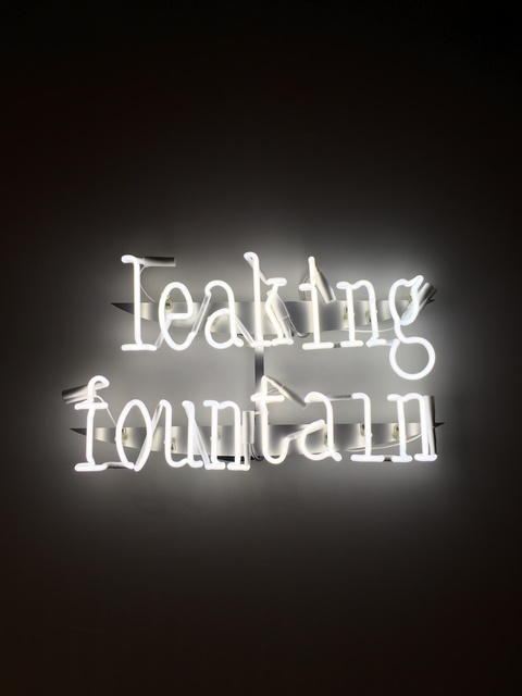 , ''Leaking Fountain' Neon Wall Lamp,' 2018, Etage Projects