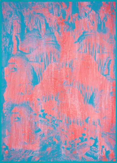 Gwenaël Rattke, 'Caves of Lebanon', 2012, Painting, Acrylic and silkscreen with hand working on museum board, Romer Young Gallery