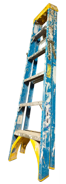 Jennifer Williams, 'Medium Folding Ladder: Blue with Yellow Top and Paint', 2014, Robert Mann Gallery