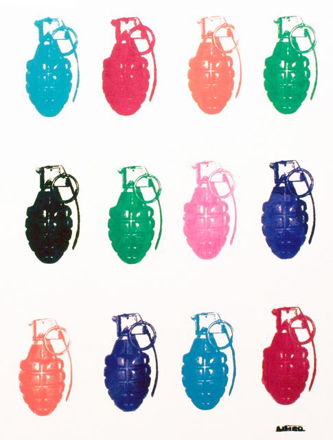 , 'Grenades on white,' 2015, Artêria