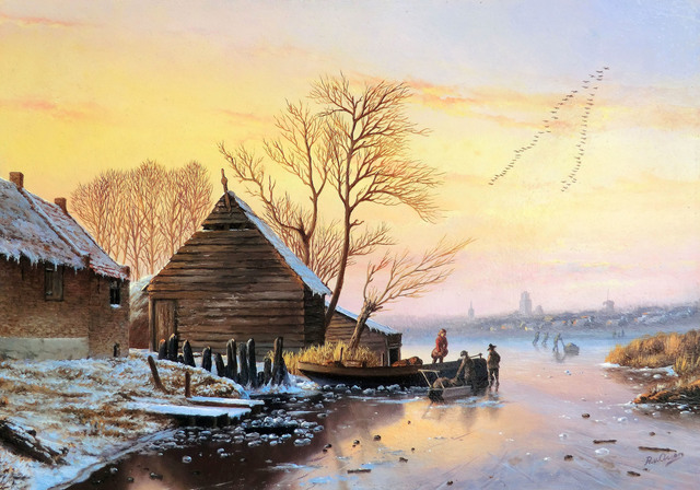 , 'Sunset on the ice,' , ArtBoutique