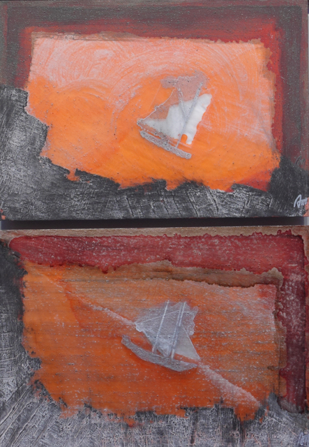 , 'Barco de vela y luz de atardecer ,' ca. 2009, Sala Parés - Galería Trama