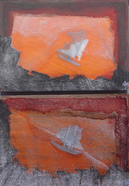 , 'Barco de vela y luz de atardecer ,' ca. 2009, Sala Parés