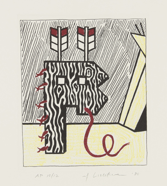 Roy Lichtenstein, 'Figure with Teepee, from American Indian Theme', 1980, Phillips