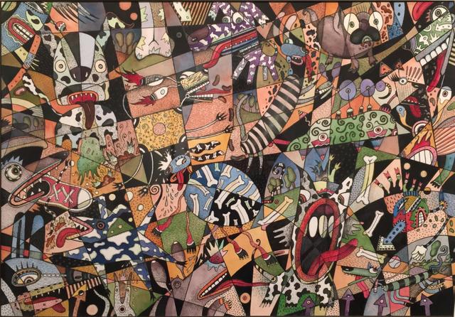 , 'Dog Park (trickle down economics),' 2015, Nicole Longnecker Gallery