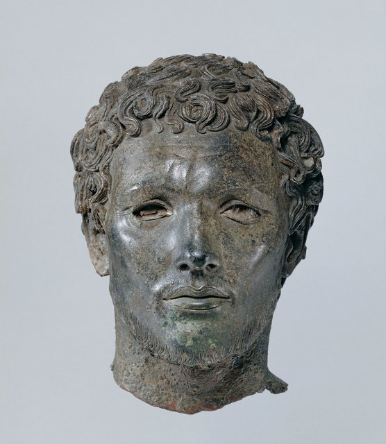 , 'Portrait of a North African Man,' 300-150 B.C., J. Paul Getty Museum