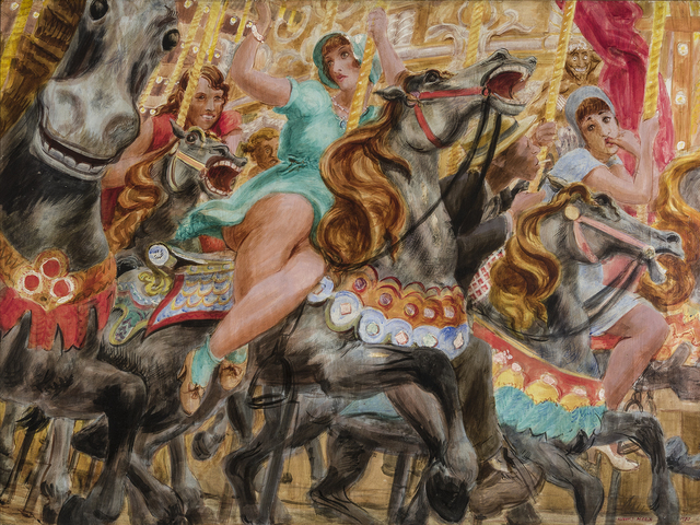 Reginald Marsh, 'Merry-Go-Round', 1930, Hirschl & Adler