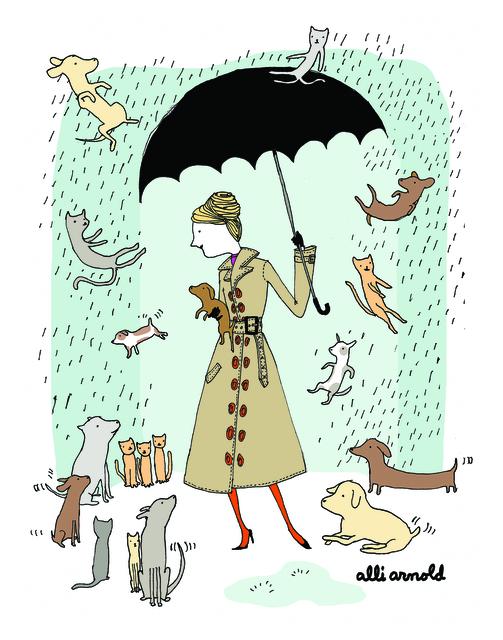 Alli Arnold, 'Raining Cats and Dogs Print', 2016, Rare Tempo