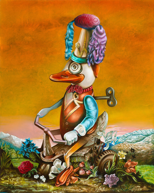 Steve Viezens, 'One Lucky Duck', 2012, Painting, Oil on canvas, Galerie Kleindienst