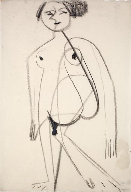 Ernst Ludwig Kirchner, 'Standing Nude', 1930, Henze & Ketterer