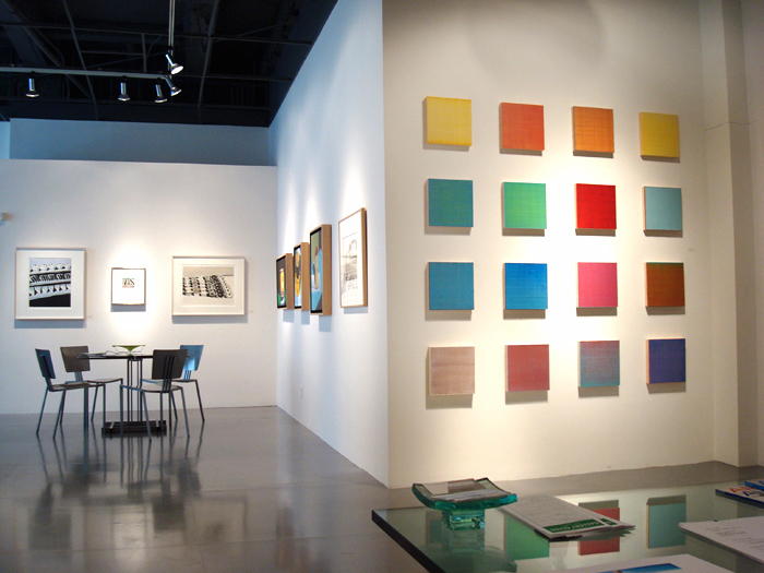 Joanne Mattera at Adler & Co. Gallery, San Francisco 2010 (Photo courtesy of Adler & Co.)